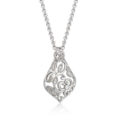 "Belle Etoile ""Empress"" .25 ct. t.w. CZ Pendant in Sterling Silver, , default"
