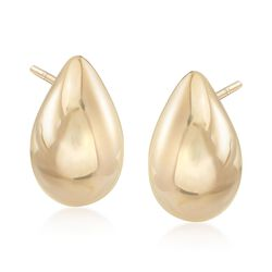 Italian 18kt Yellow Gold Puffed Teardrop Earrings, , default