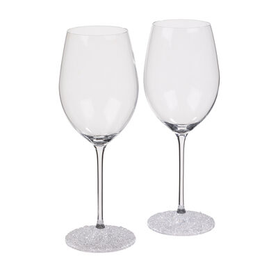 """""""Ice Crystal"""" Set of 2 Wine Glasses"""
