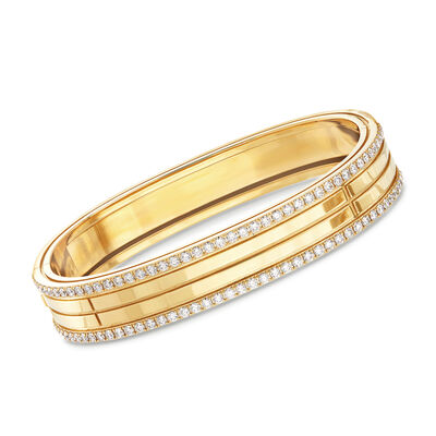 "Roberto Coin ""Portofino"" 1.95ct. t.w. Diamond Four Row Bangle Bracelet in 18kt Yellow Gold"