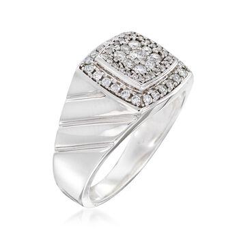 Men's .63 ct. t.w. Diamond Ring in 14kt White Gold, , default