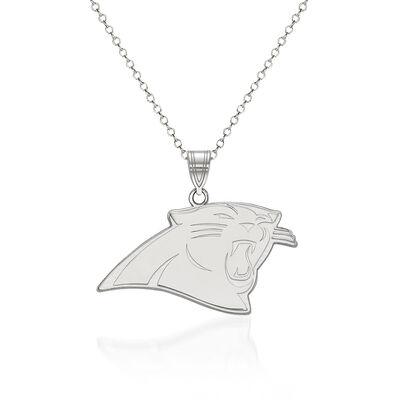 "Sterling Silver NFL Carolina Panthers Pendant Necklace. 18"", , default"