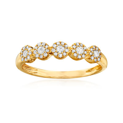 .25 ct. t.w. Diamond Circle Ring in 14kt Yellow Gold