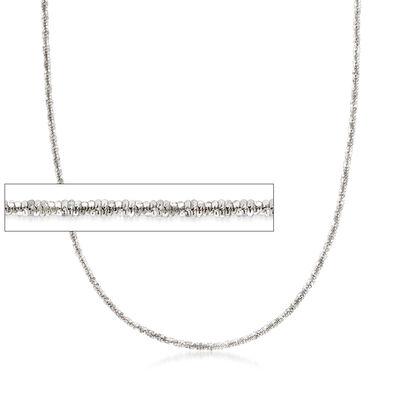 Italian Crisscross-Link Chain in Sterling Silver