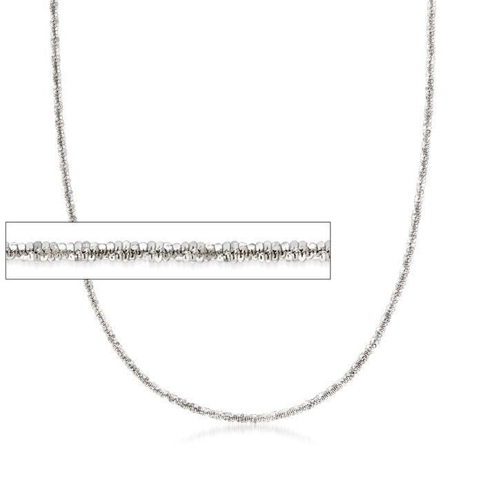 Italian Crisscross-Link Chain in Sterling Silver, , default