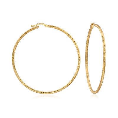 Italian Hoop Earrings in 14kt Yellow Gold