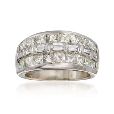C. 1990 Vintage 2.30 ct. t.w. Diamond Ring in Platinum, , default