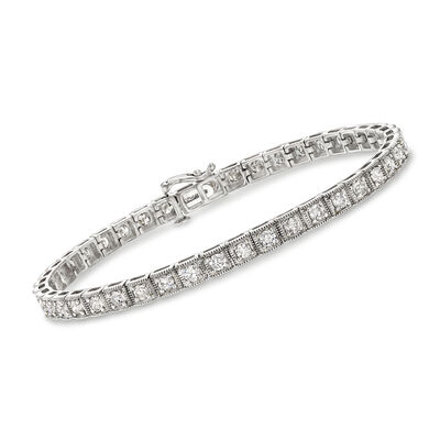 3.00 ct. t.w. Diamond Bracelet in 14kt White Gold, , default