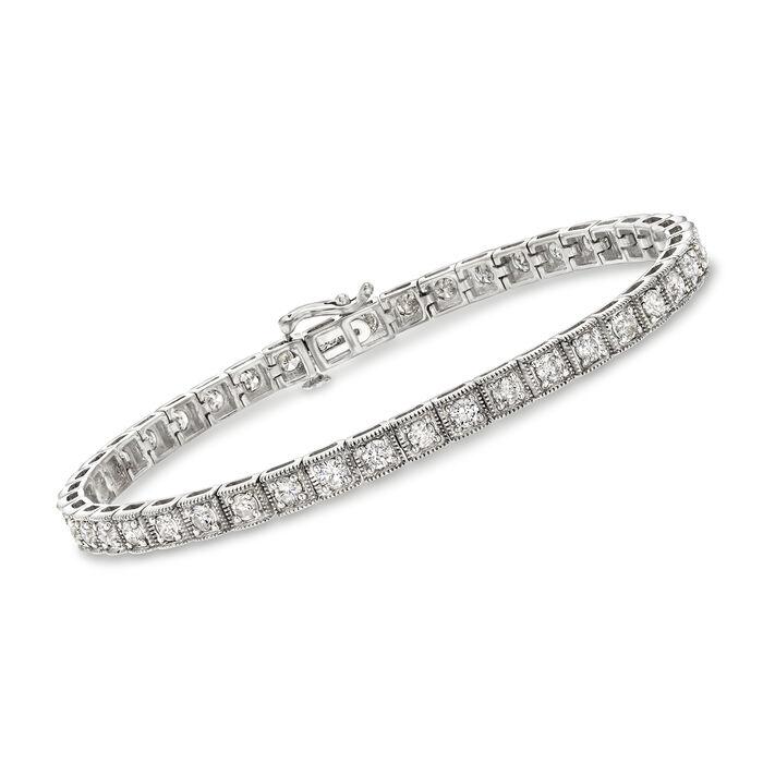 3.00 ct. t.w. Diamond Bracelet in 14kt White Gold, , default