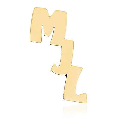 14kt Yellow Gold Initial Cut-Out Personalized Tie Tac, , default