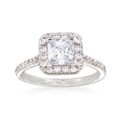 Gabriel Designs .37 ct. t.w. Diamond Engagement Ring Setting in 14kt White Gold, , default