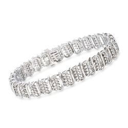 4.50 ct. t.w. Diamond Bracelet With San Marco Spacers in Sterling Silver, , default