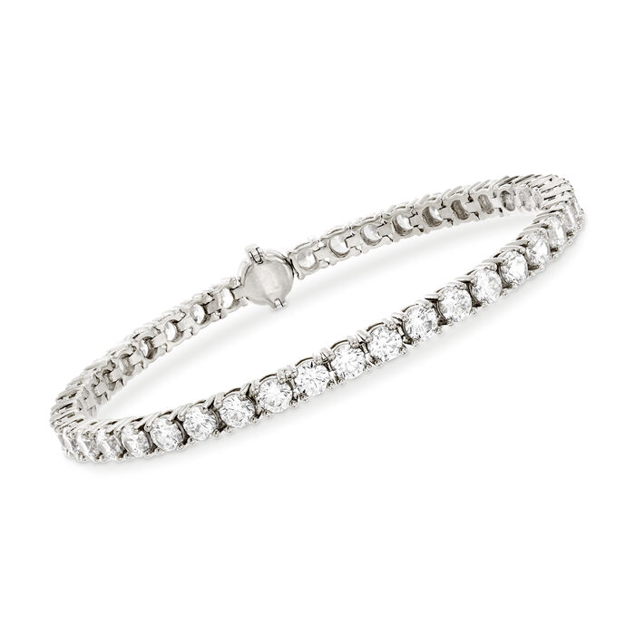 9.00 ct. t.w. CZ Tennis Bracelet in Sterling Silver