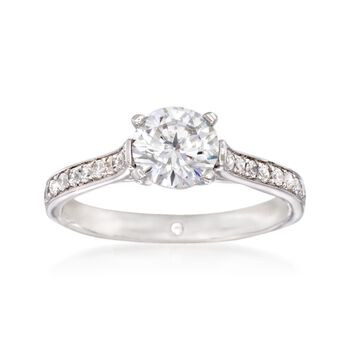 Gabriel Designs .28 ct. t.w. Diamond Engagement Ring Setting in 14kt White Gold, , default