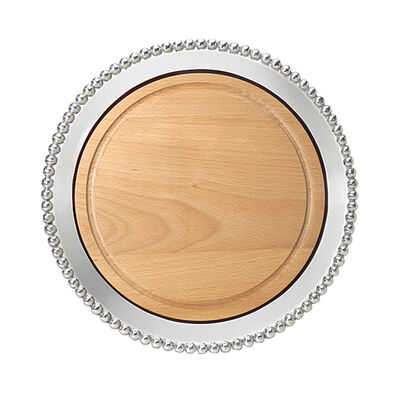"""Mariposa """"String of Pearls"""" Round Wooden Cheeseboard"""