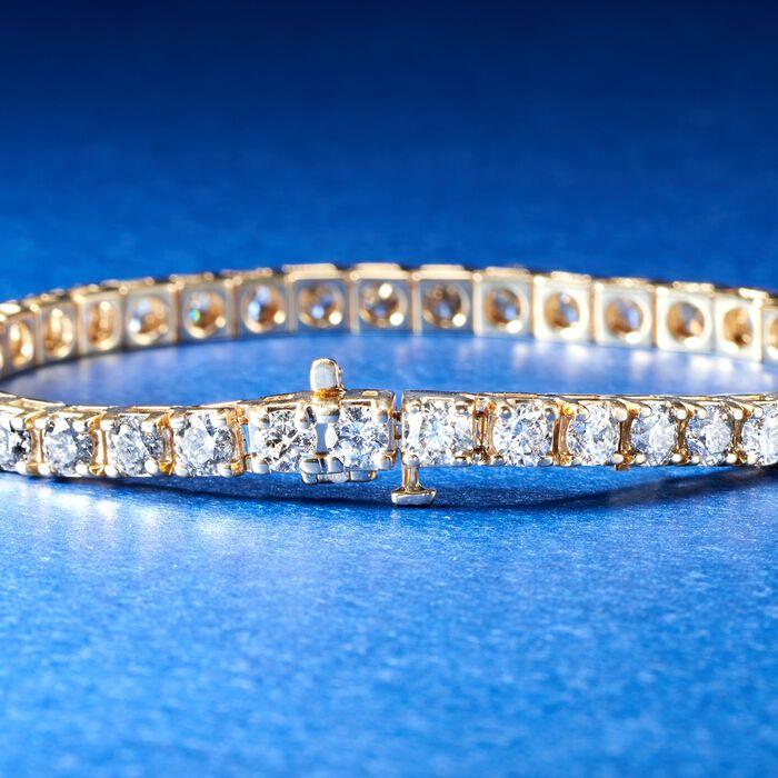 10.00 ct. t.w. Diamond Tennis Bracelet in 14kt Yellow Gold