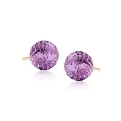 3.00 ct. t.w. Amethyst Earrings in 14kt Yellow Gold, , default