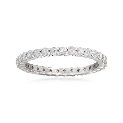 1.00 ct. t.w. Diamond Eternity Band in Sterling Silver, , default