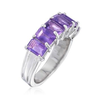 3.10 ct. t.w. Amethyst Ring in Sterling Silver. Size 7, , default