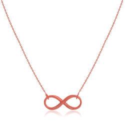 14kt Rose Gold East-West Infinity Necklace, , default