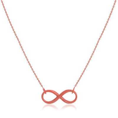 14kt Rose Gold East-West Infinity Necklace, , default