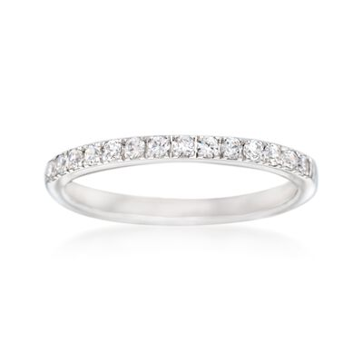 Simon G. .26 ct. t.w. Diamond Wedding Ring in 18kt White Gold
