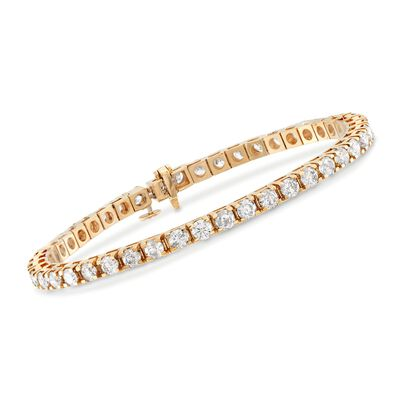 7.00 ct. t.w. Diamond Tennis Bracelet in 14kt Yellow Gold, , default