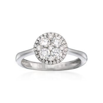Gregg Ruth .66 ct. t.w. Diamond Ring in 18kt White Gold, , default