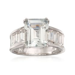 6.80 ct. t.w. White Topaz Ring in Sterling Silver, , default
