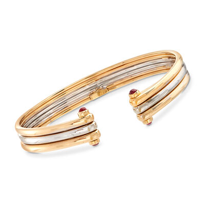 C. 1980 Vintage Van Cleef .60 ct. t.w. Ruby Bracelet in 18kt Two-Tone Gold, , default