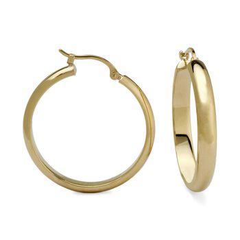 "14kt Yellow Gold Hoop Earrings. 1"" , , default"