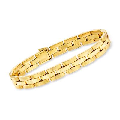 C. 1980 Vintage Cartier 18kt Yellow Gold Link Bracelet, , default