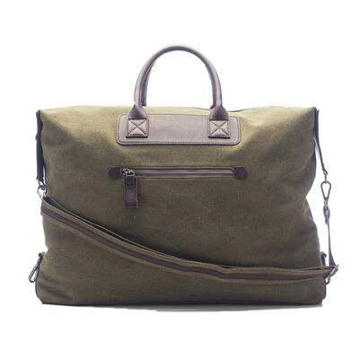 "Brouk & Co. ""Excursion"" Hunter Green Waxed Canvas Weekender Bag"