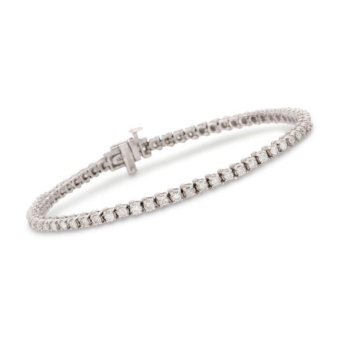 """2.25 ct. t.w. Diamond Tennis Bracelet in Sterling Silver. 8"""", , default"""