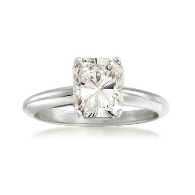 2.08 Carat Certified Radiant-Cut Diamond Ring in 14kt White Gold, , default
