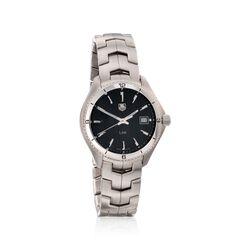TAG Heuer Link Men's 40mm Stainless Steel Watch - Black Dial , , default