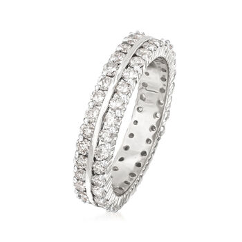 2.00 ct. t.w. Diamond Two-Row Eternity Band in 14kt White Gold, , default