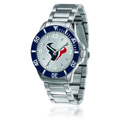Men's 46mm NFL Houston Texans Stainless Steel Key Watch