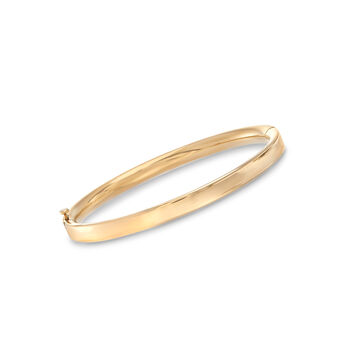 Mom & Me Bangle Bracelet Set of Two in 14kt Yellow Gold, , default