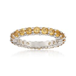 2.00 ct. t.w. Citrine Eternity Band in Sterling Silver, , default