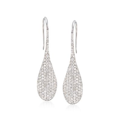 Roberto Coin 2.31 ct. t.w. Pave Diamond Earrings in 18kt White Gold, , default