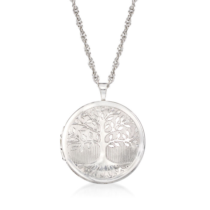 Sterling Silver Tree of Life Locket Necklace