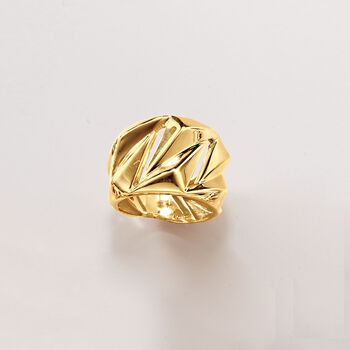Italian 18kt Yellow Gold Geometric Ring, , default