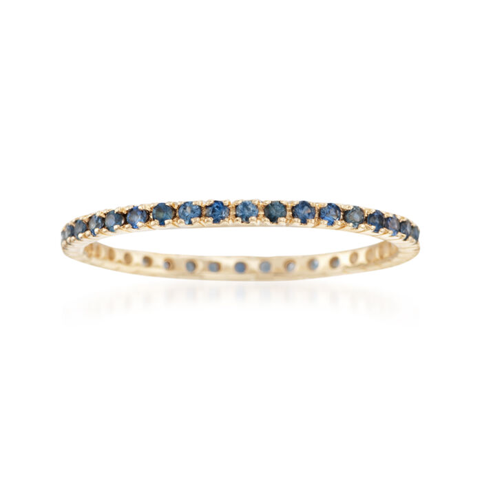 .33 ct. t.w. Sapphire Eternity Band in 14kt Yellow Gold, , default