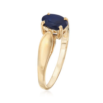 C. 1990 Vintage .89 ct. t.w. Sapphire Ring in 14kt Yellow Gold. Size 5, , default