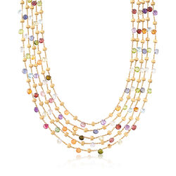 C. 2000 Vintage Marco Bicego 93.00 ct. t.w. Multi-Stone Multi-Strand Necklace in 18kt Yellow Gold, , default