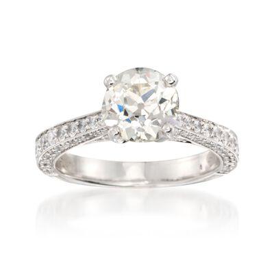 C. 2000 Vintage 3.40 ct. t.w. Diamond Ring in Platinum
