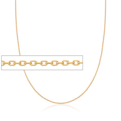 22kt Yellow Gold Cable Chain Necklace, , default