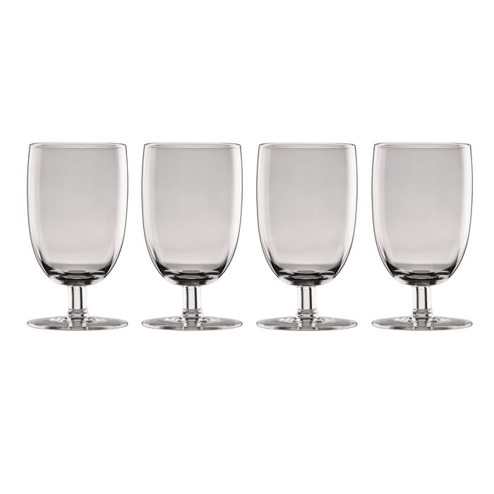 "Lenox ""Valencia"" Set of 4 Smoke All-Purpose Glasses"