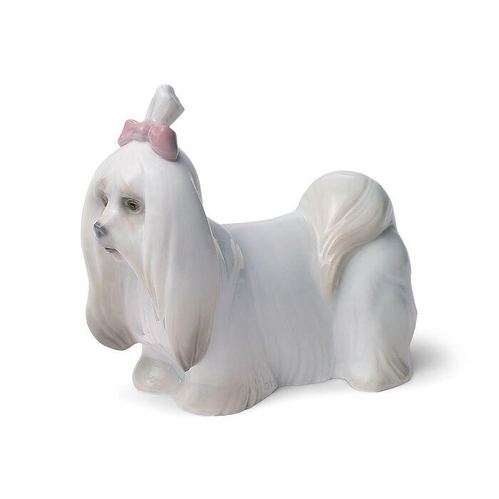 "Lladro ""Maltese"" Porcelain Figurine"